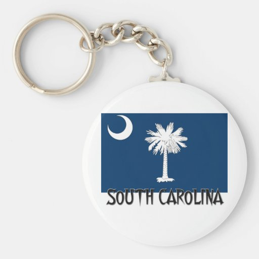 South Carolina Flag Basic Round Button Keychain