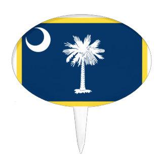 South Carolina Flag Cake Topper