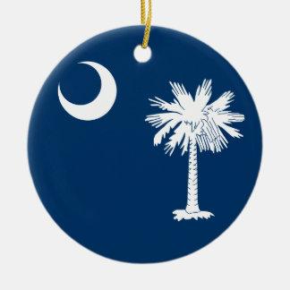South Carolina Flag Ceramic Ornament