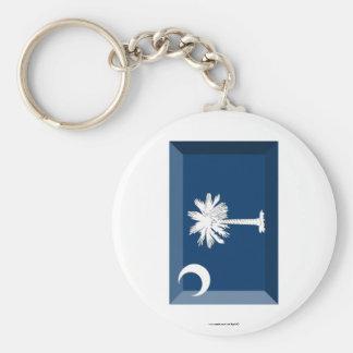 South Carolina Flag Gem Key Chains