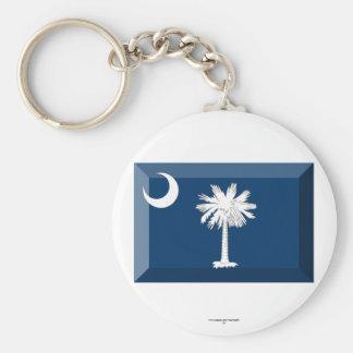 South Carolina Flag Gem Keychains