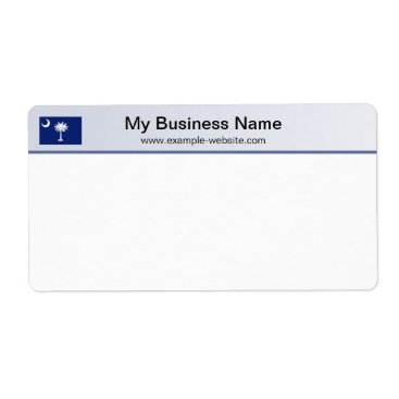 Professional Business South Carolina Flag Header Shipping Label
