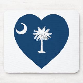 South Carolina Flag Heart Mouse Pad