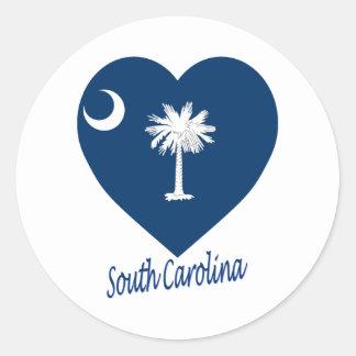 South Carolina Flag Heart Sticker