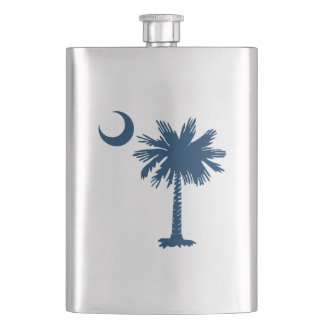 South Carolina Flag Hip Flask