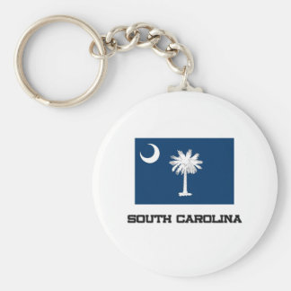 South Carolina Flag Key Chain