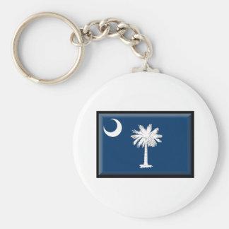 South Carolina Flag Keychain