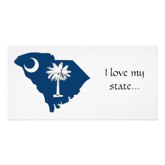 South Carolina Flag Map Card