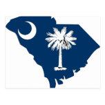 South Carolina Flag Map Postcards