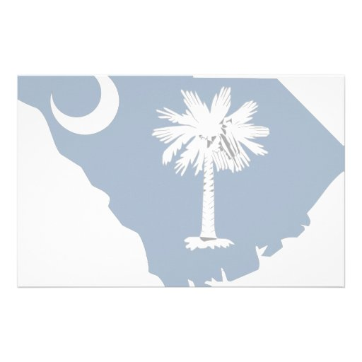 South Carolina Flag Map Stationery Paper