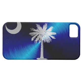 South Carolina Flag; metal-look iPhone 5 Cases