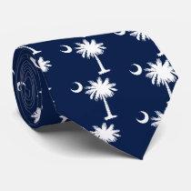 South Carolina Flag Neck Tie