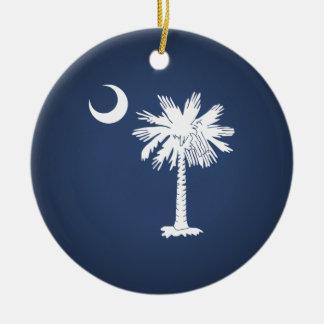South Carolina Flag Christmas Tree Ornaments