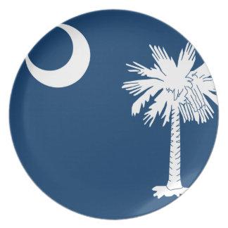 South Carolina Flag Dinner Plate