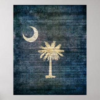 South Carolina Flag Poster