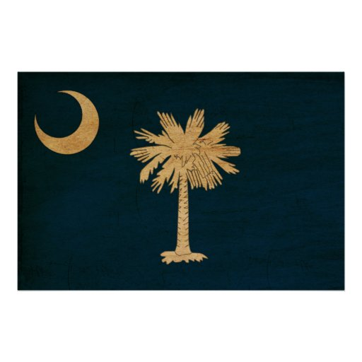 South Carolina Flag Poster
