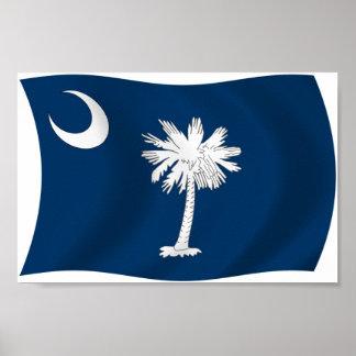 South Carolina Flag Poster Print