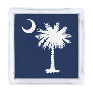 South Carolina Flag Silver Finish Lapel Pin