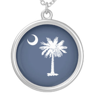 South Carolina Flag Silver Plated Necklace