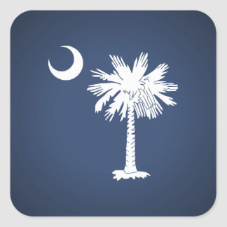 South Carolina Flag Square Sticker