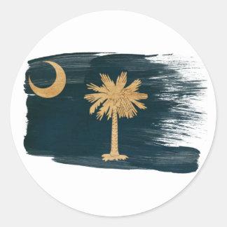 South Carolina Flag Round Stickers