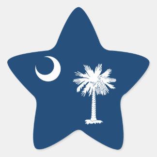South Carolina Flag Star Sticker