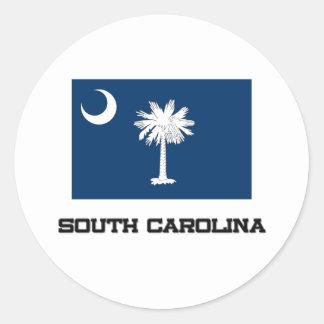 South Carolina Flag Classic Round Sticker