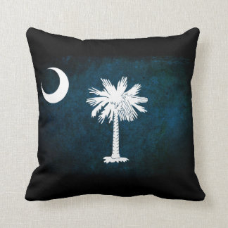 South Carolina Flag; Throw Pillow