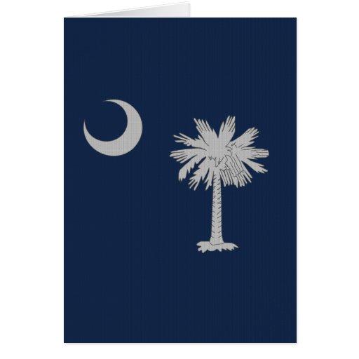 South Carolina Flag - Tight fabric weave Card