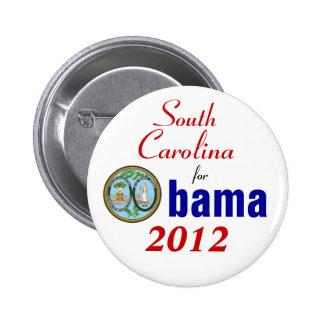 South Carolina for Obama 2012 Pinback Buttons