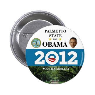 SOUTH CAROLINA FOR OBAMA 2012 political pinback bu Pinback Button