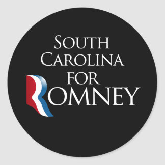 South Carolina for Romney -.png Classic Round Sticker
