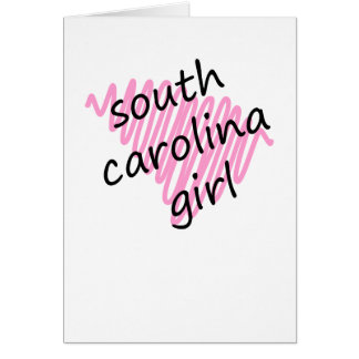 South Carolina Girl with Scribbled South Carolina Card
