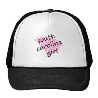 South Carolina Girl with Scribbled South Carolina Trucker Hat