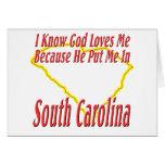 South Carolina - God Loves Me Greeting Card