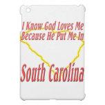 South Carolina - God Loves Me iPad Mini Cases