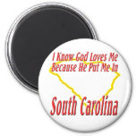 South Carolina - God Loves Me Refrigerator Magnets