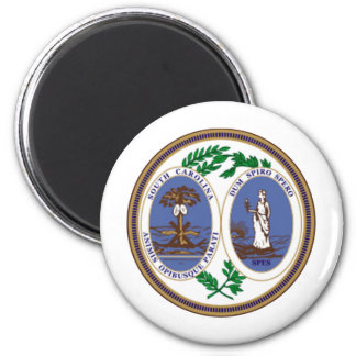 South Carolina Great Seal 2 Inch Round Magnet