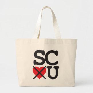 South Carolina Hates You Large Tote Bag