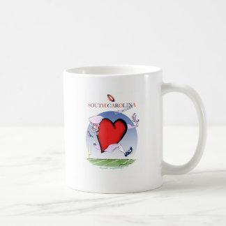 south carolina head heart, tony fernandes coffee mug