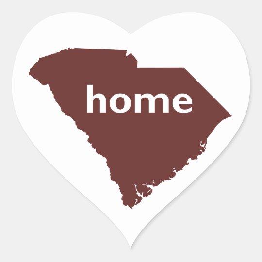South Carolina Home Heart Sticker