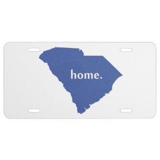 South Carolina Home State Blue License Plate