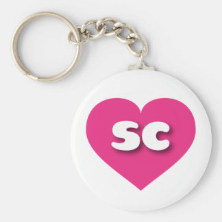 South Carolina hot pink heart - mini love Keychain
