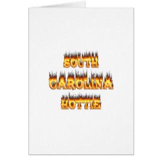 South Carolina hottie fire  and flames Card