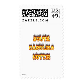 South Carolina hottie fire  and flames Postage Stamps