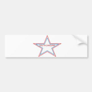 South Carolina in a star. Bumper Sticker