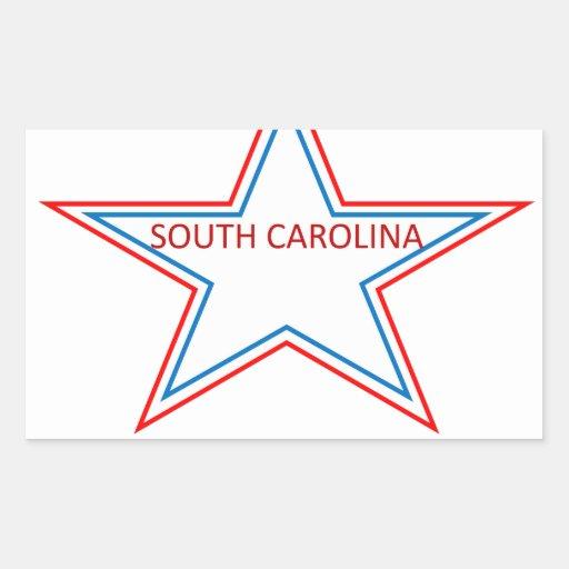 South Carolina in a star. Rectangular Sticker