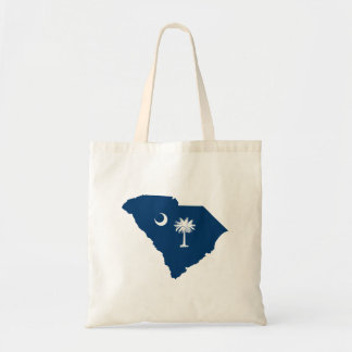 South Carolina in Blue and White Budget Tote Bag