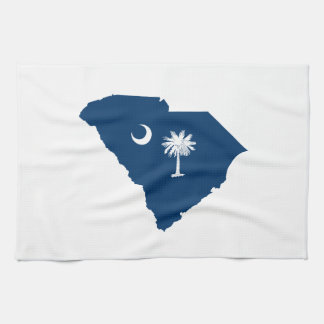 South Carolina in Blue and White Kitchen Towel