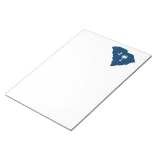 South Carolina in Blue and White Notepad